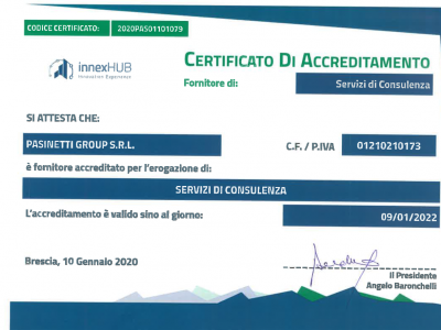 PASINETTI GROUP SRL è fornitore accreditato 4.0